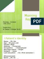Morning Report 15 Oktober 2012