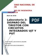 LAB2 disparo de tiristor con circuitos UJT y PUT