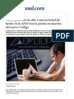 Claves Para Dar de Alta a Una Sociedad de Hecho en La AFIP Tras La Puesta en Marcha Del Nuevo Código – IProfesional