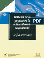 Paredes, Sofía - Travesía de Lo Popular en La Crítica Literaria Ecuatoriana