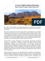 Fact Sheet – Organ Mountains-Desert Peaks Conservation Act