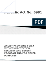 Republic Act No 6981 Witness Protection