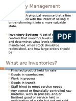 Introduction to Inventory Mgt