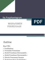 Outline Manajemen Persediaan