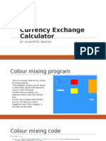 currency exchange calculator asignment