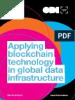 Applying blockchain technology in global data infrastructure