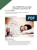 6 Enfermedades FEMENINAS Que Debes Conocer