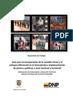 CARTILLA VARIABLE ETNICA V 30 ABRIL 2012 ENFOQUE DIFERENCIAL EN PLANES Y POLITICAS NACIONAL Y TERRITORIAL