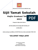 Sijil Graduasi Tahun 6