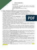 Direito Financeiro Capítulos 1, 2 e 3