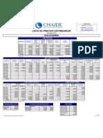 Lista Precios Distribuidor 29 Febrero 2016