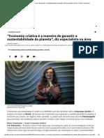 _Economia Criativa é a Maneira de Garantir a Sustentabilidade Do Planeta_, Diz Especialista Na Área - Diário Catarinense