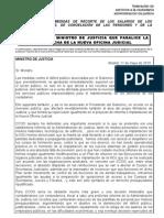 Hoja Carta Al Ministro Justicia Recorte Salarial 17-5-10
