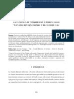 La cláusula de transferencia de fondos en los tratados internacionales de inversión de Chile