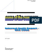 Internal Audit Format