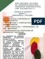 Bioquimica Prodeunp Sullana Unidad 3 Carbohidratos y Proteinas