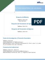 Directorio - Hacienda