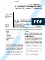 NBR 6471 - 1998 - Cal virgem e cal hidratada - Retirada e preparação de amostra - Procedimento.pdf