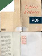 Espèces d'Espaces_Georges Perec