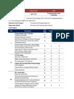 Programmable Logic Controller- Syllabus
