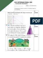 evaluación geometría