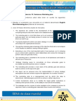 Evidencia 10 Sentences Marketing Plan