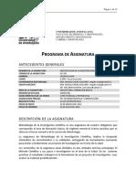 PROGRAMA ASIGNATURA METODOLOGÍA DE LA INVESTIGACIÓN FINAL 2016