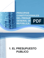 Diapositivas Principios Constitucional Del Presupuesto