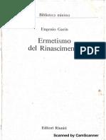 GARIN, Eugenio. Ermetismo Del Rinascimento