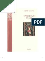 CHASTEL, André. Marsile Ficin Et l'Art