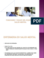 Principios y Roles en Salud Mental