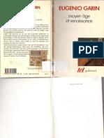GARIN, Eugenio. Moyen Âge Et Renaissance