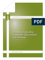 UnbenaIncreasing Carpooling in Vermont