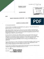 Application for judicial review
