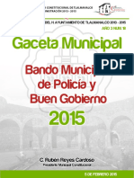 Bando Municipal 2015 Tlalmanalco