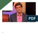 Dr Oz Rebate Críticas Ao Seu Programa - Tradução