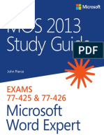 MOS Microsoft Word Expert 2013 Study Guide
