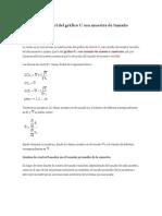Límites de Control Del Gráfico U Con Muestra de Tamaño Variable