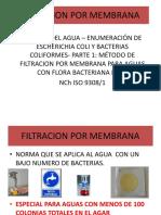 Capacitación NChISO 9308 Filtración