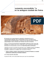 El Colosal Monumento Escondido _a Simple Vista_ en La Antigua Ciudad de Petra - BBC Mundo