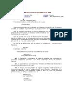 Reglamento a La Ley de Documentos de Viaje