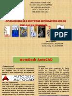 Aplicaciones de 6 software informáticos que se emplean en Ingeniería.