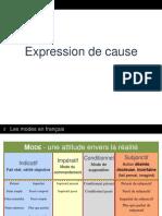 Expression de Cause