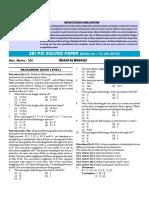 SBI PO Solved Paper 2014