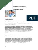 Organización y Sistema de Contabilidad