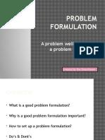 problem formulation `, done