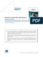 Panorama Sobre a Educação 2007 Indicadores Da OCDE