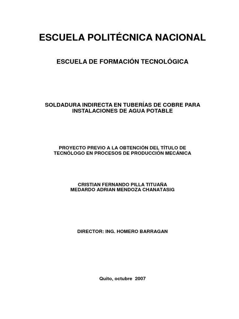 SOLDADURA INDIRECTA