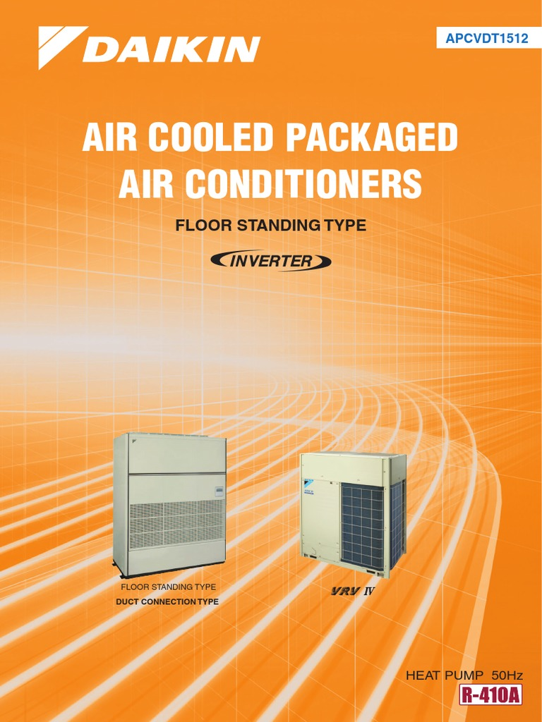 Air cooled packaged inverter floor standing typeheat pump air cooled packaged inverter floor standing typeheat pump 50hzapcvdt1512 air conditioning mechanical fan fandeluxe Image collections