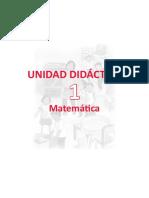 u1 1er Grado Unidad Didactica Mate